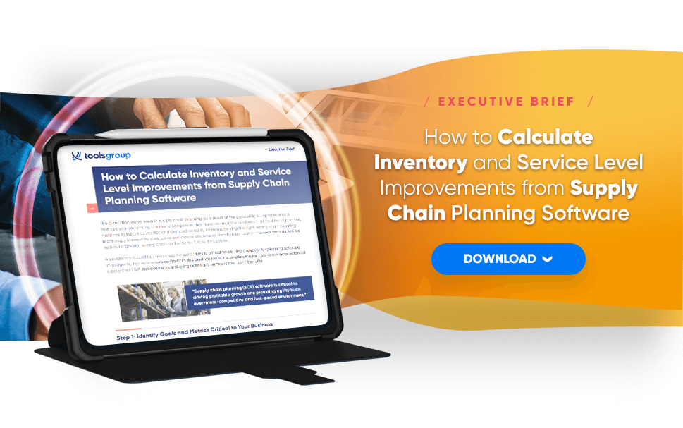 How to Calculate Inventory and Service Level Improvements from Supply Chain Planning Software